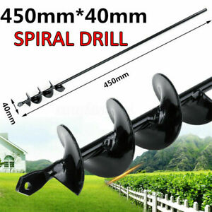 """Jayzod 4x12 Auger Drill Bit for Planting,Garden Auger Spiral Drill Bit,Bulb /& Bedding Plant Augers,Plants Drill bit for 3//8/"""" Hex Drive Drill"""