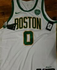 Jayson Tatum Authentic Boston Celtics City Edition White-Gold Jersey size 56