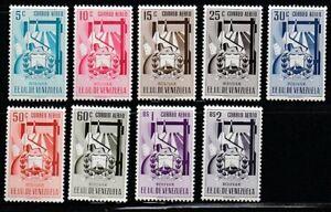 Venezuela   1951   Sc # C419-27   Boliva   MNH   XF   (55492)