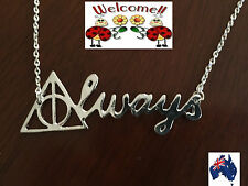 "HARRY POTTER ""ALWAYS"" NECKLACE DEATHLY HALLOWS GREAT VALUE  AUS 144W"