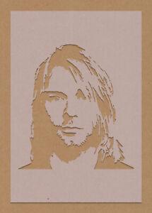 Kurt Cobain Stencil Celebrity Rock Star Grunge
