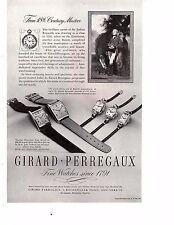 Girard-Perregaux Fine watches Since 1791 Vintage Print Ad 1946 Original