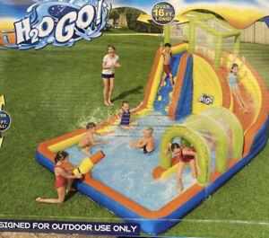 H20 Go Cascade Cove 16FT Mega Inflatable Kids Water Park Water Slide Summer Pool