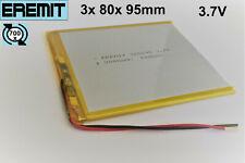 Lithium Polymer LiPo Batterie Akku 3000mAh 3.7 V 3mm Tablet 318295 1S PCB BMS 26