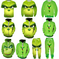 The Grinch Cosplay 3D Hoodies Men Women Funny T-shirt Sweatshirt Jackets Pants