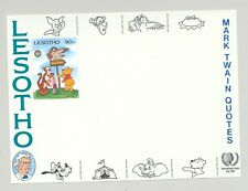 Lesotho #507 Disney, Owls 1v Imperf Proof Mounted on Chromalin Background Proof