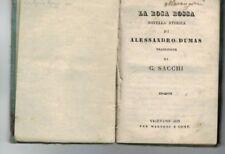 ALESSANDRO DUMAS -LA ROSA ROSSA- EDIZIONE 1833- OTTIMA CONSERVAZIONE