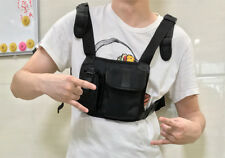 Universal Hands Free Rescue Chest Harness Bag Holster for Portable Radio