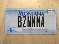 """MONTANA VANITY LICENSE PLATE """" BZNMMA """" B Z N MOMMA  BZ BUSY MOMMY"""