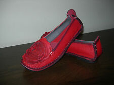 SPRING STEP L'ARTISTE WOMEN'S SHOES BALLERINAS RED LEATHER EU SIZE 38 / UK 5