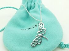 Tiffany & Co Silver Enchant Dragonfly  Necklace Pendant Charm Chain 16in