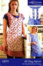 All-Day Apron Sewing Pattern by Indygo Junction Women's One Size Fits Most
