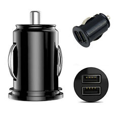 12V Car Truck Auto Dual USB Ports Mini Charger Adapter for iPhone Tablet Bluelan