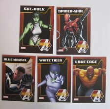 lot of 64 MARVEL mighty avengers cards 2013 NYCC SPIDERMAN BLUE MARVEL +++++