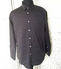 H500 Henbury Men's Shirt Long Sleeve Black Size XL 80% Cotton