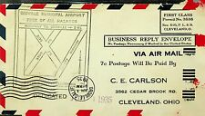 US 1935 POSTAGE DUE 2v ON OROVILLE AIRPORT DEDICATION AIRMAIL REPLY ENVELOPE