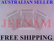 100 Small ZipLock Zip Lock Plastic Resealable Plastic Bag 40MMX50MM + FREE SHIP