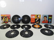 10 Elvis RCA Victor 45 RPM Records