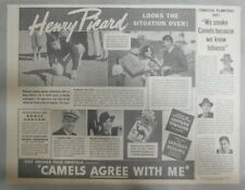 Camel Cigarette Ad: Henry Picard Golf Champion ! from 1938 Size:10 x 13 inches