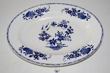 C161 Plat - Boch La Louvière - Décor Grand Bouquet - Blue 1