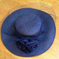 Joe Bill Miller Straw Women's Church Hat With Mesh Front Rn10587