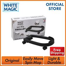 White Magic Spin Mop Bucket Trolley With Wheels