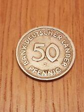 """50 Pfennig 1949 Bank Deutscher Länder """"J """" Guter Zustand"""