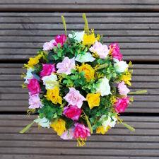 Pink and Yellow Roses Arrangement   Artificial Flower Pot   Grave/Memorial/Crem