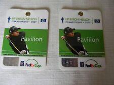 HP Byron Nelson Championship PGA Tour Golf Tournament 2009 Pavilion Passes (2)