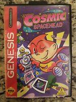 Cosmic Spacehead (Sega Genesis, 1993) Complete Rare NO MANUAL FREE SHIP UNTESTED