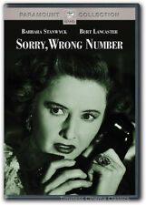 Sorry, Wrong Number DVD New Barbara Stanwyck Burt Lancaster