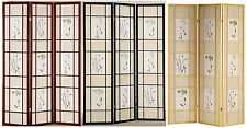 3 or 4 Panel Folding Screen Room Divider Floral   2-way Double Hinges