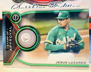2021 Topps Tribute Jesus Luzardo Stamp of Approval #'d /99 Green Athletics