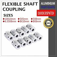 Flexible Shaft Motor Coupling Coupler Stepper CNC 3D Printer 5mm 6.35mm 8mm 10mm