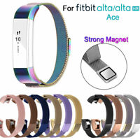 NEW Replacement metal Band Strap Magnetic Steel Wristband For Fitbit Alta HR ACE