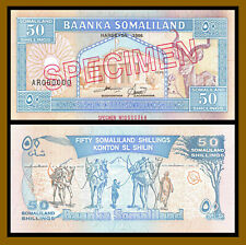 Somaliland 50 Shillings, 1996 P-4s Specimen S/N 0000368 Unc