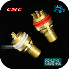 HIFI CMC 805-2.5F-G RCA socket pure copper plating gold signal lotus mother