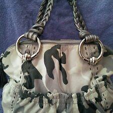 B MAKOWSKY Camouflage  Leather Satchel Handbag A211928