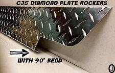 Jeep CJ5 Highly Polished Diamond Plate Side ROCKERS with bend. 5 1/4'' WIDE set