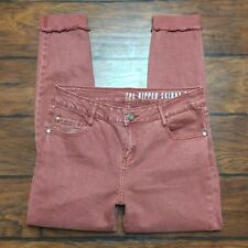 Cotton On The Ripped Skinny Jeans Size 8 Destroyed Distressed Denim Raw Hem Cuff