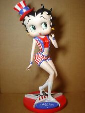 "Betty Boop STATUE UNCLE SAM DESIGN 15"" (RETIRED)"