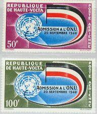 Upper Volta obervolta 1962 112-13 c5-c6 admission to onu 2nd Ann emblema Flag mnh