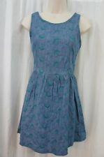 Teen Vogue by MStyleLab Juniors Dress Sz M Denim Jade Casual Summer Dress