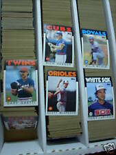 1986 Topps Baseball pick 40 cards finnish your set exnm