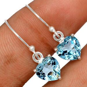 Heart - Blue Topaz 925 Sterling Silver Earring Jewelry BE63032