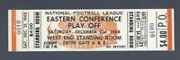 VINTAGE 1968 NFL DALLAS COWBOYS @ BROWNS FOOTBALL CHAMPIONSHIP FULL TICKET 12/21
