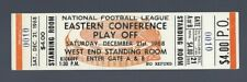 VINTAGE 1968 NFL DALLAS COWBOYS @ BROWNS FOOTBALL CHAMPIONSHIP FULL TICKET 12/21