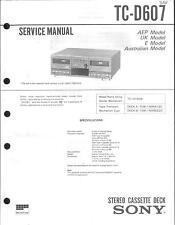 Sony original Service Manual para TC-d 607