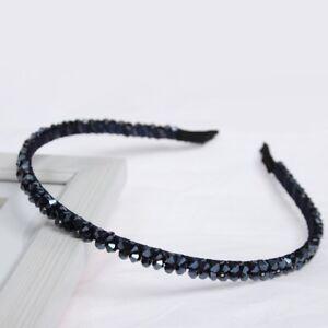 Luxus Strass Haarreif Hochzeit Blumen Haarschmuck Blau Neu