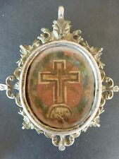 SILVER RELIQUARY, LARGE RELIC of the TRUE CROSS OF OUR LORD
